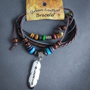Alexis Wrap Bracelet Brown Leather Personalized